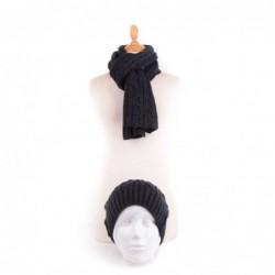 Echarpe et bonnet IMAD Bleu...