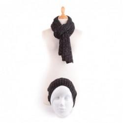 Echarpe et bonnet IMAD Noir
