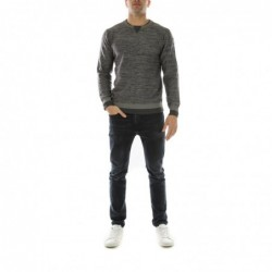 Pull col rond DUNOIS Gris...