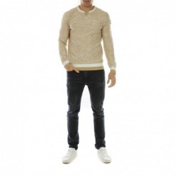 Pull col rond DUNOIS Ecru