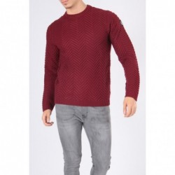 Pull col rond ENERU Bordeaux
