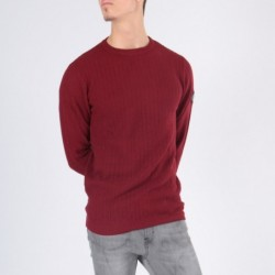 Pull col rond DORAMI Bordeaux