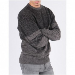 Pull co rond ECANO Gris perle