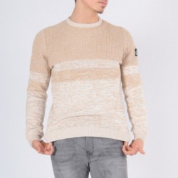 Pull co rond ECANO Marron