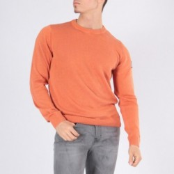 Pull col rond ECHARDE Orange