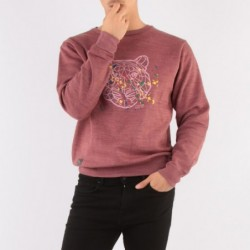Sweat col rond ENZO Bordeaux