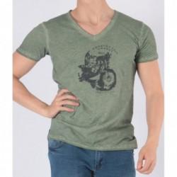 T-shirt Tooweel Vert kaki
