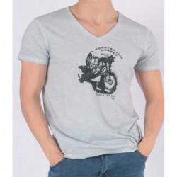 T-shirt Tooweel Bleu gris