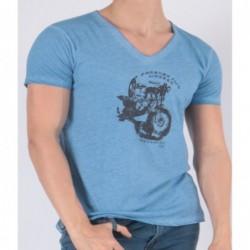 T-shirt Tooweel Bleu céladon