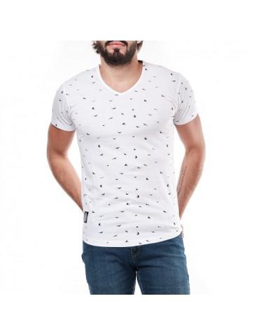T-shirt GAMBLAST Blanc