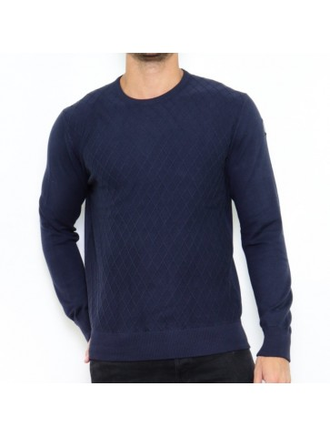 Pull col rond DURENDAL Navy