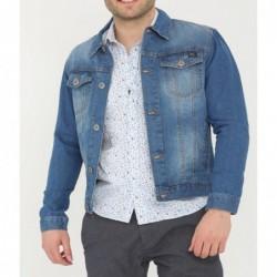 Veste en jean Viktor Bleu...