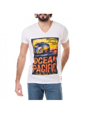 T-shirt Ocean Blanc