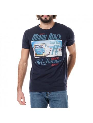 T-shirt Miami Bleu marine