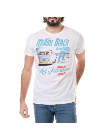 T-shirt Miami Blanc
