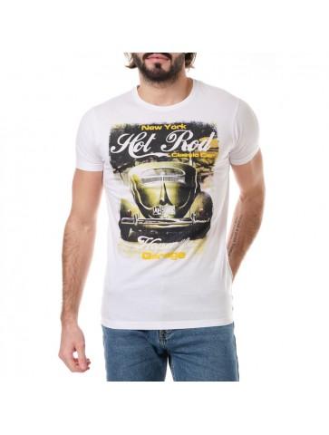 T-shirt HOT Blanc