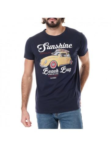 T-shirt Sunshine Bleu marine