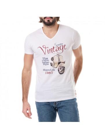 T-shirt VINTAGE Blanc