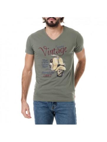 T-shirt VINTAGE Kaki