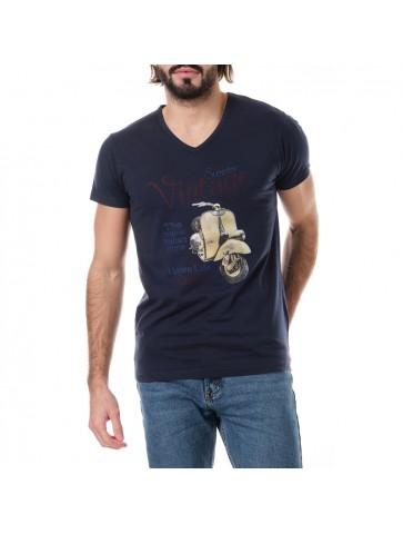 T-shirt VINTAGE Bleu marine